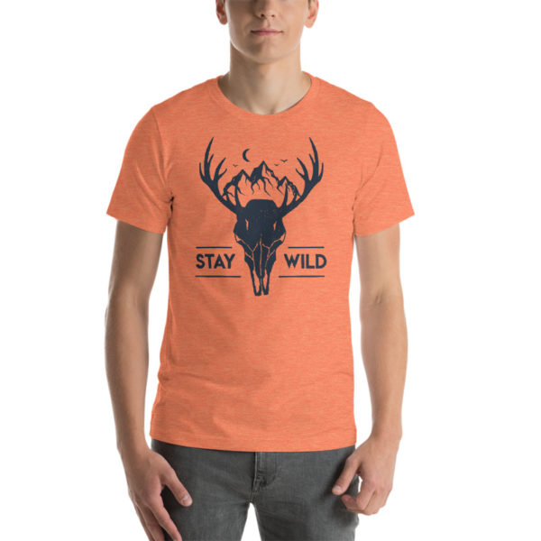 Stay Wild Heather Orange Shirt