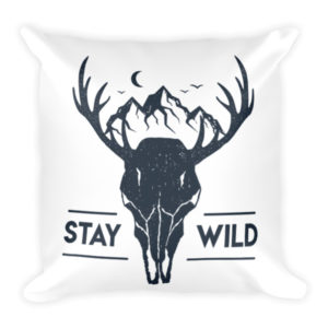 Stay Wild Square Pillow